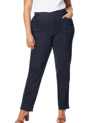 210c1446749a9 Just My Size Just My Size 2-Pocket Flat-Front Jeans