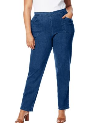 Just My Size 2-Pocket Flat-Front Jeans, Petite Length