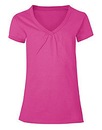 Hanes Girls' Shirred V-Neck Tee
