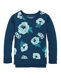 Hanes Girls' High-Low Graphic Sweatshirt