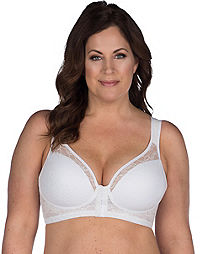 Leading Lady Lace Covered Wirefree Posture Back Bra