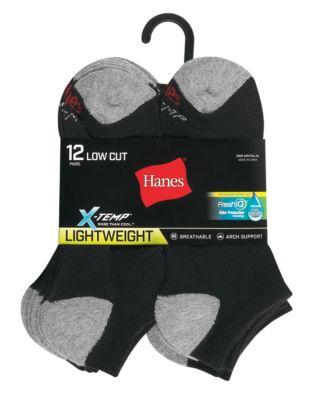 Hanes Men/'s X-Temp Comfort No Show 12-Pack Black
