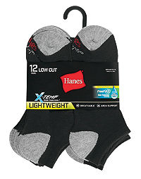 Hanes Men's FreshIQ™ X-Temp® Low Cut Socks 12-Pack