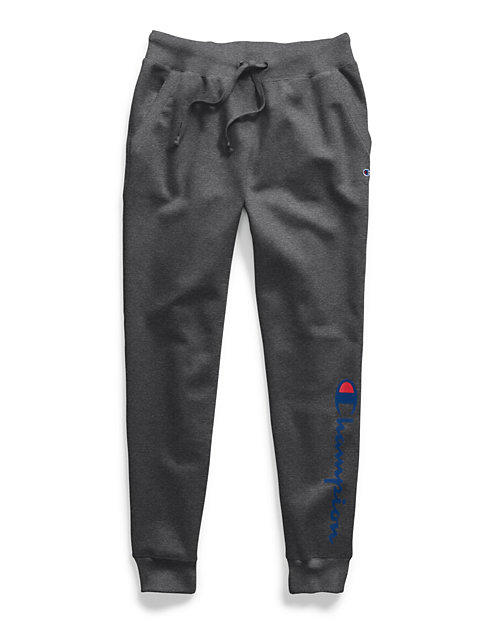 Champion Women's Powerblend® Fleece Joggers, Two-color Vertical Logo