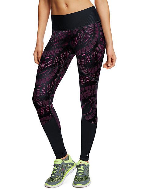 Champion Women's 6.2 Printed Run Tights With SmoothTec™ Band