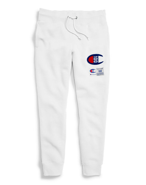 Champion Century Collection Women's Joggers, C100 Chenille Logo