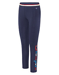 Champion Women's Authentic Leggings, Multi-Color Logo
