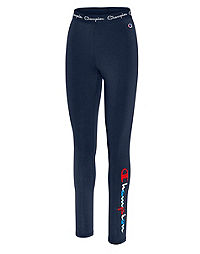 Women's Athletics Authentic Leggings, Multi-color Script Logo