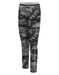 Champion Women's Authentic Print Legging, Metallic Logo