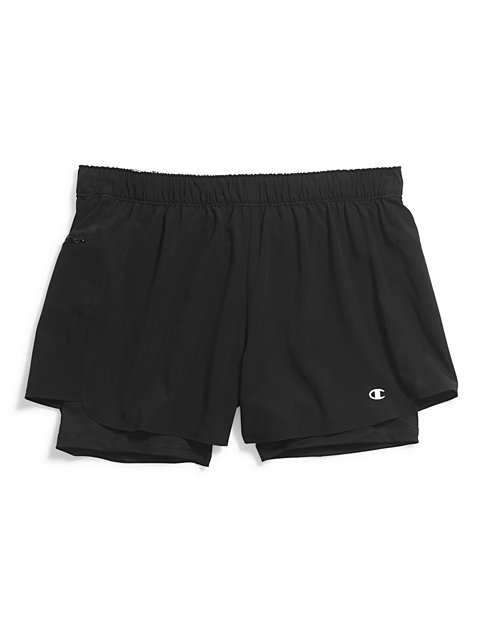 Champion Women's Stretch Woven 2 In 1 Shorts