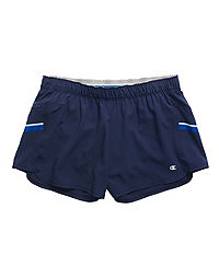 Champion Women's Woven Train Shorts With Side Stripes
