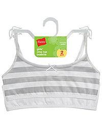 Hanes Girls' Cotton Pullover Bra 2-Pack