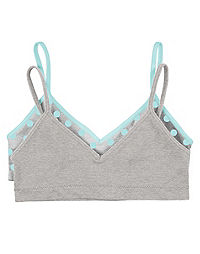 Hanes Girls' Cami Strap Wirefree Bra 2-Pack