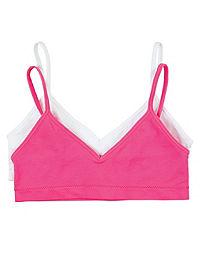 Hanes Girls' Cami Strap Wirefree Bra 2-Pack
