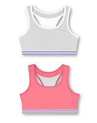 Hanes Girls' ComfortFlex Fit® Pullover Bra with Wide Racerback Straps 2-Pack