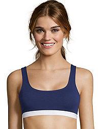 Hanes Cotton Stretch Comfort Flex Fit® Wirefree Bra 2-Pack