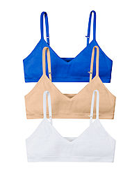 Hanes Girls' ComfortFlex Fit® Seamless Bralette 3-Pack (Includes 1 free bonus bralette)