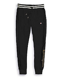 Champion® Faux Fur Women's Joggers, Gold Logo