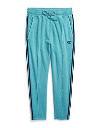 b897ab6269495 Champion Life® Women's Vintage Dye Fleece Slim Pants, Chainstitch Logo.  CornflowerTeal Color ...