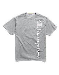 Champion Men's Logo Sleep Tee, Oxford Grey Heather