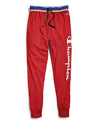 Champion Men's Logo Sleep Joggers, Scarlet