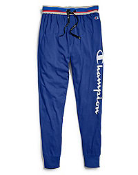 Champion Men's Logo Sleep Joggers, Surf The Web