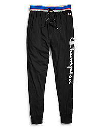 Champion Men's Logo Sleep Joggers, Black