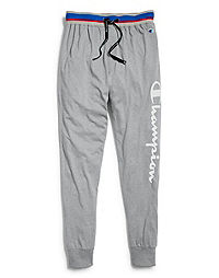 Champion Men's Logo Sleep Joggers, Oxford Grey Heather