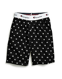 Champion Men's Logo Sleep Shorts, Black