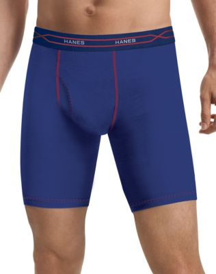 Hanes Men's FreshIQ® X-Temp® Performance Cool Longer Leg Boxer Briefs 3-Pack