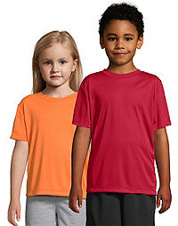 Hanes COOL DRI® Kids' Performance Crewneck T-Shirt 3-Pack