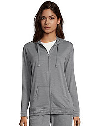 6658b916b6a6b Hanes Women s French Terry Full Zip Hoodie. DadaGreyHeather Color