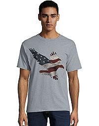 Hanes Men's Eagle Flag Flight Graphic Tee