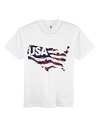Hanes Youth Stripes of Pride Graphic Tee