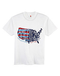 Hanes Youth Americana Map Graphic Tee