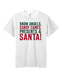 Hanes Girls' Christmas List Short-Sleeve Tee