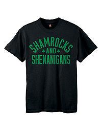 Kids' ComfortSoft® Shamrocks & Shenanigans Graphic Crewneck Tee