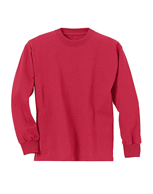 Hanes ComfortSoft® Kids' Long-Sleeve T-Shirt 3-Pack