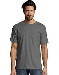 Hanes TAGLESS® Men's Pocket T-Shirt 4-Pack