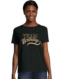 Women's ComfortSoft® Team Birthday Graphic Crewneck Tee