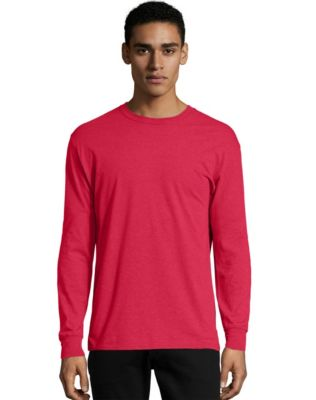 Hanes X-Temp® Men's Crewneck Long-Sleeve T-Shirt