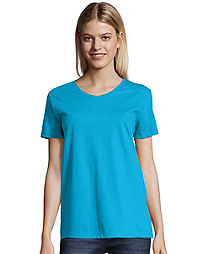 Hanes Women's TAGLESS® ComfortSoft® Relaxed Fit V-Neck Tee 2-Pack