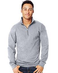 Hanes  X-Temp® Men's 1/4 Zip Long-Sleeve T-Shirt