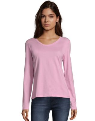 Hanes Women's Long-Sleeve V-Neck T-Shirt