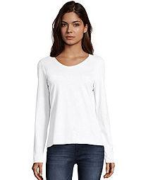 3fe042b7c Hanes Women s Long-Sleeve V-Neck T-Shirt