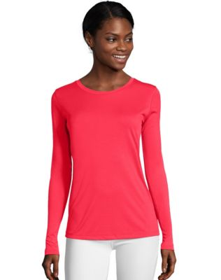 Hanes Sport™ Cool DRI® Women's Performance Long-Sleeve T-Shirt