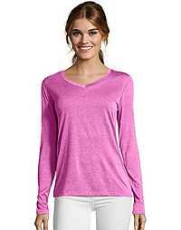77c3546cf1f65 Hanes Sport™ Cool DRI® Women s Performance Long-Sleeve V-Neck T-
