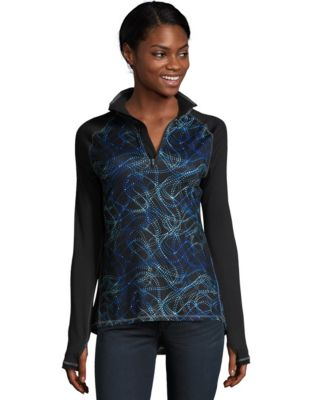 Hanes Sport™ Women's Performance Quarter Zip Sweatshirt