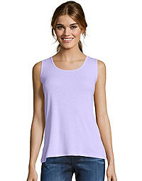 c003ae30f2600 Hanes Women s Mini-Ribbed Cotton Tank. LilacWash Color ...