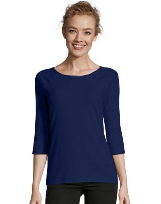 Hanes Stretch Cotton Women's Raglan Sleeve Tee